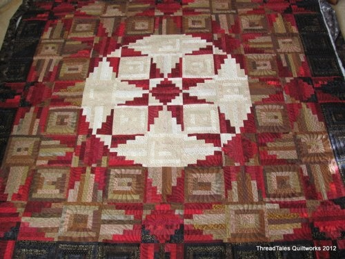 interesting piecing and quilting