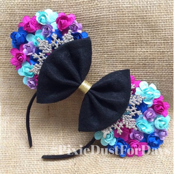 This is a handcrafted headband made with paper roses the color of Annas dress and is made for an adult or child. The felt color in the back is