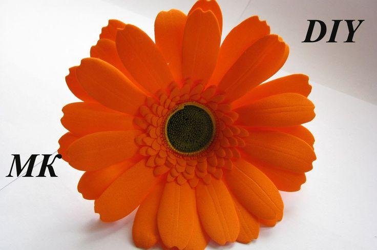 Гербера из фома МКHow to make Foam Flower, DIY, Tutorial Foam