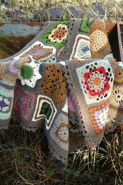 Sampler afghan (see http://www.ravelry.com/projects/irishkiwi/200-crochet-blocks)