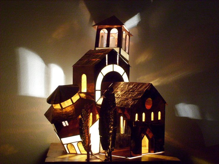""""""" 7 Chiese """" copper e stained glass"""
