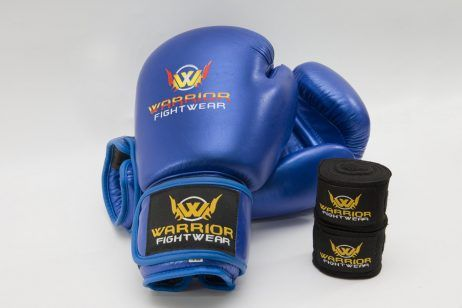 Boxing Gloves bundle includes handwraps, get this combo deal now at Warrior Fight Wear. #boxing #boxinggloves #mma #kickboxing #muaythai
