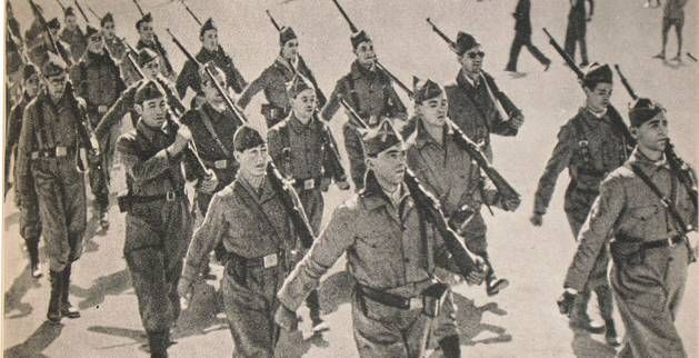 Spain - 1936. - GC - Madrid - Soldados republicanos del Quinto Regimiento…