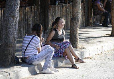 Female adolescents in rural village