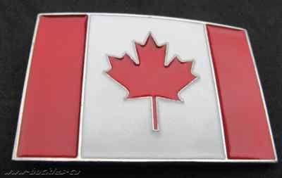 Canada Canadian Canadien Maple Leaf Flag Belt Buckles