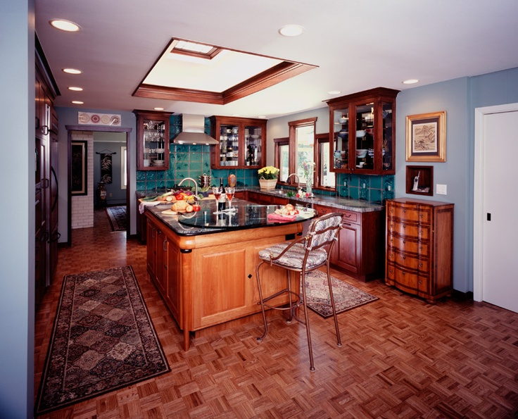 Shoji Screen Skylight And Tonsu Chest Inspired Cabinets By Parrish. Photo:  © 2012 Parrish Construction  Boulder, CO