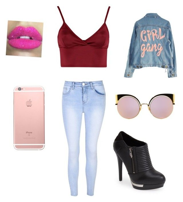 """""""Girl Gang"""" by fairestmaiden ❤ liked on Polyvore featuring High Heels Suicide, Lipsy, Glamorous, Fergie, Fendi and Glitter Pink"""