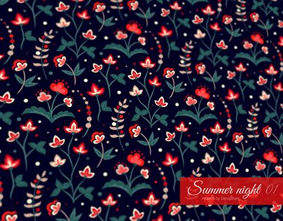 "Check out new work on my @Behance portfolio: ""SUMMER NIGHT Floral patterns collection"" http://be.net/gallery/54293385/SUMMER-NIGHT-Floral-patterns-collection"