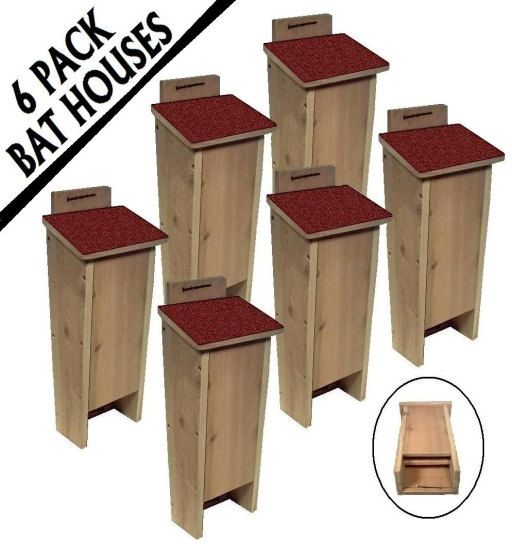 shox gene haploinsufficiency 6 PACK Cedar Bat House Shelter Box rd for great mosquito  amp  insect control   69 95  via Etsy