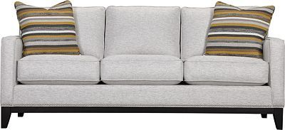 Markham Sofa (Custom)   Crisp, clean. Not unlike a fine wine. The Markham Sofa presents a traditional look. Track arms. Nailhead trim. Wood front and side rails. Tapered legs. Choose the custom fabric that suits your transitional décor. Invite friends over. Relax and repeat.