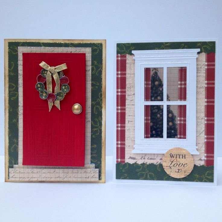 Designed by Nicky Gilburt using Christmas Cheer door and window frame