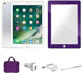 Apple iPad 128GB Wi-Fi + 4G with Screen Protector and Case
