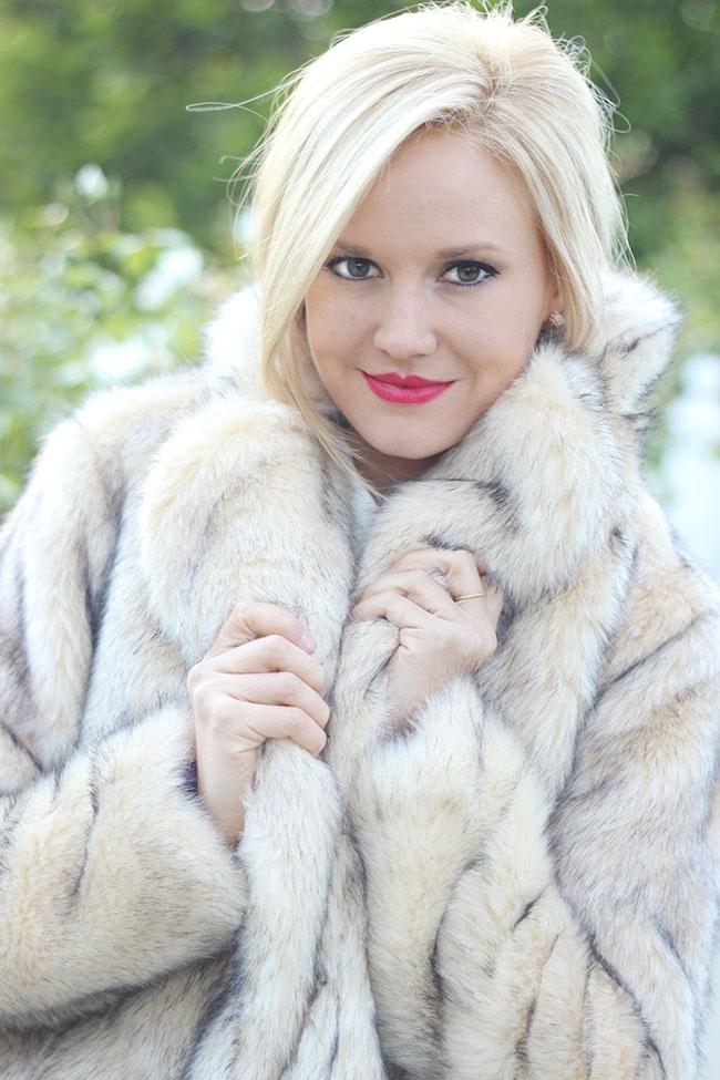 Nasty Gal Cruella Faux Fur Coat Golden White D 233 Cor Looks