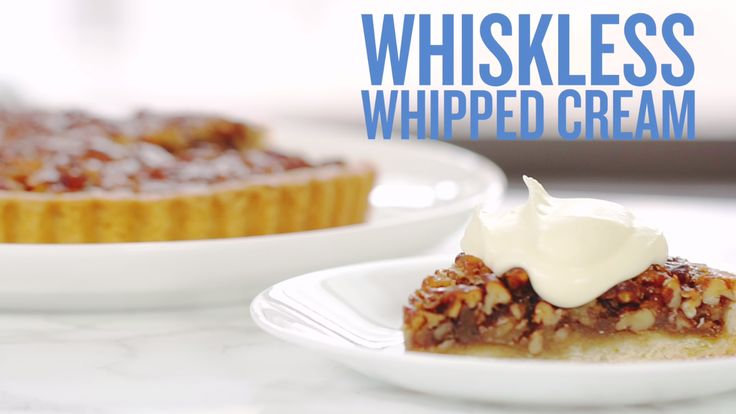 What separates your amazing pumpkin pie from the desserts at a fancy restaurant? Homemade whipped cream. Whip some up (pun intended) in three minutes—all you need is heavy whipping cream and a mason jar. Bon appétit.