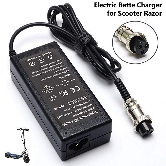 36w Electric Battery Charger For Scooter Razor E175 E100 E200 E200s Zr350 E300 Dirtbike E125 E150 E500 Mx350 E225s E300s E Battery Charger Charger Mini Chopper