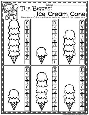 measurement worksheets  teachers pay teachers  my store  kindergarten math worksheets  ice cream measurement kindergartenmath  measurement mathworksheets kindergartenworksheets measurementworksheets