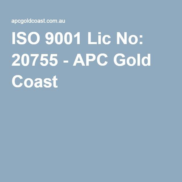 ISO 9001 Lic No: 20755 - APC Gold Coast