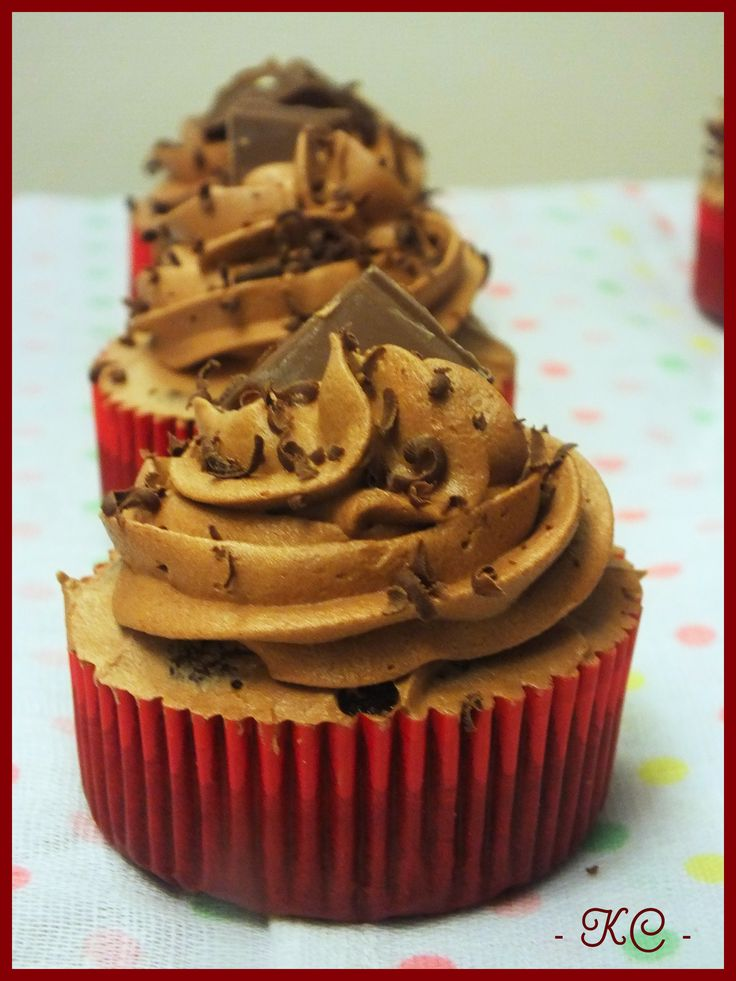 choconutella cupcakes  - By Kitty Cupcakes
