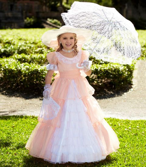 peach southern belle child costume - Chasing Fireflies