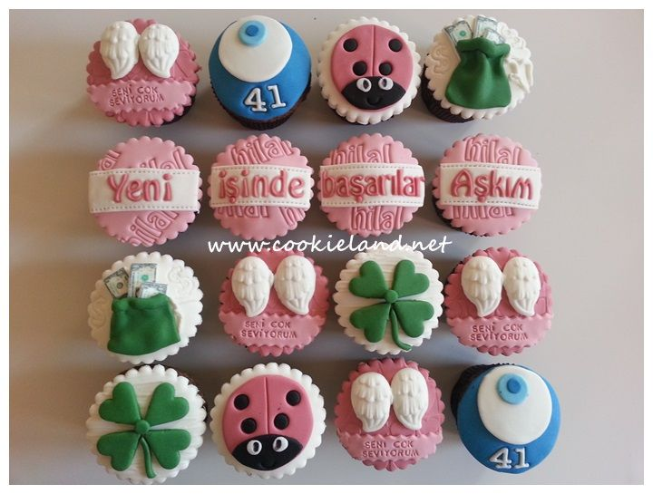for new work cupcakes ,celebration