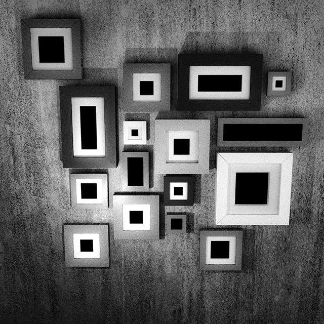 If it ain't square, i won't be there. #monochrome #bnw #bw #blackwhite #bnw_creatives #mustavalkoinen #taide #art #Jason65kuutio #taulu #kehys #picture #frame