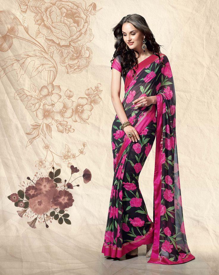 Vibrant Printed Sarees this Diwali.
