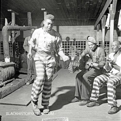 1941, Convict camp, Greene County, Georgia. Vintage African American photography courtesy of Black History Album, The Way We Were.