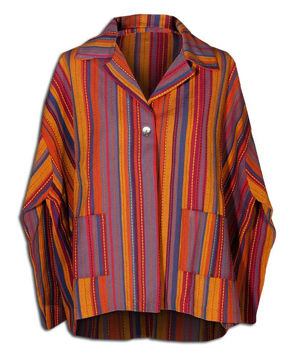 One button colorful coat in cotton
