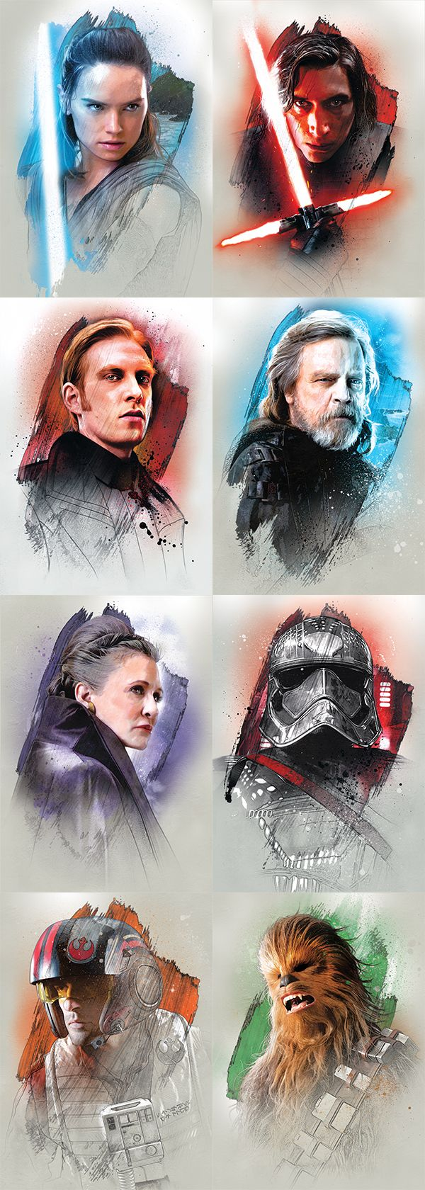 Awesome digital art from the latest Star Wars movie... Like'em? Buy'em at Displate