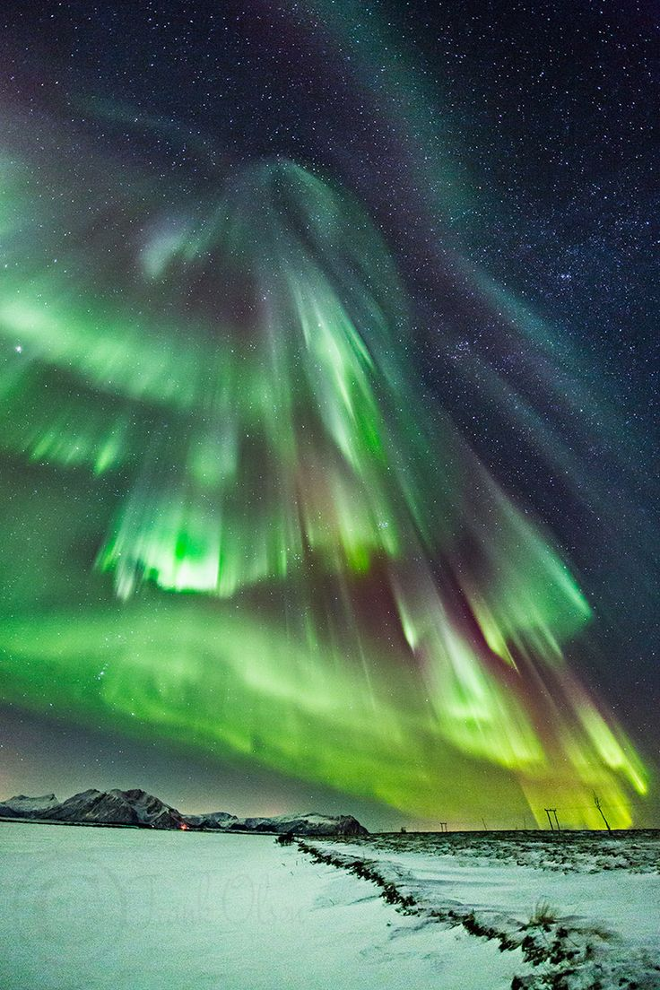 Northern Lights - Northwest coast of Norway, Andøya island.