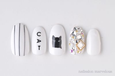 cat nail in white