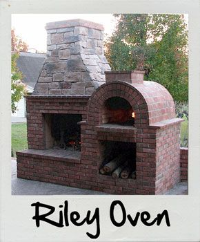 Riley Wood Fired Brick Pizza Oven And Fireplace Combo In