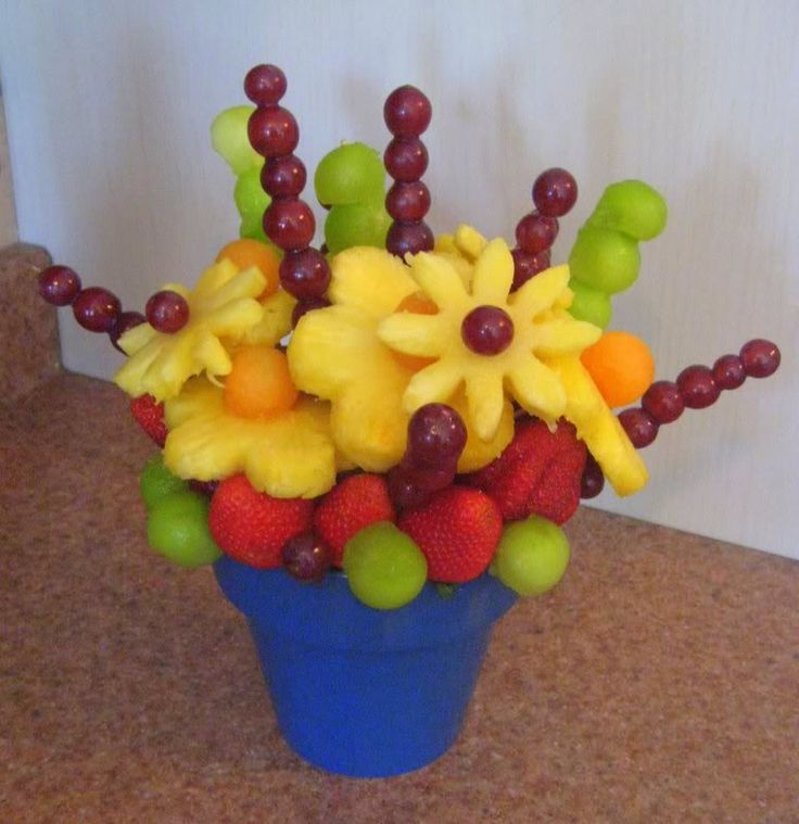 Fruit Bouquet centerpiece...definitely gonna learn to make these