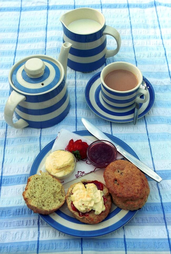 Proper Cornish cream tea #Cornishware