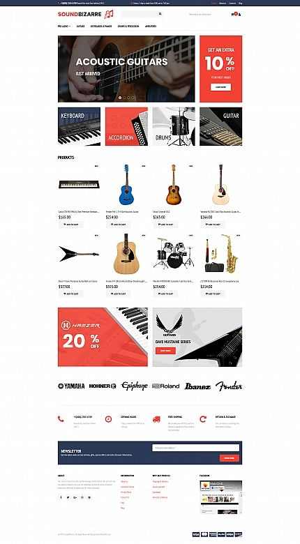 SoundBizarre - Music MotoCMS Ecommerce Template