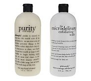 Philosophy Purity(Night) and Microdelivery Exfoliating Wash(Morning after walking/jogging)-can't live without these 2 products....