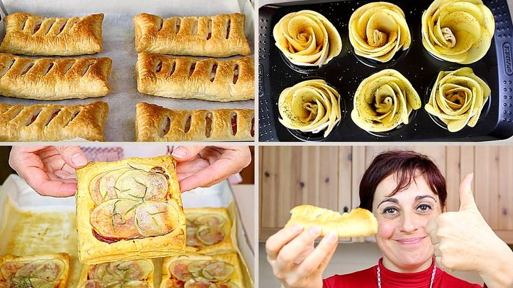 Ecco 3 ricette con patate e pasta sfoglia: saccottini di patate con pastasfoglia, pizzette di patate con pasta sfoglia e roselline di patate