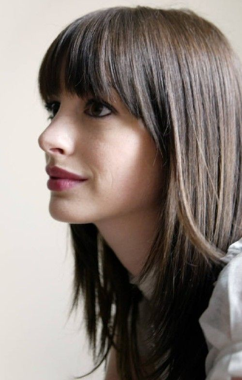 Straight Hairstyles With Bangs Fair 260 Best Hairstyle Images On Pinterest  Hair Dos Fringes And Hair Cut