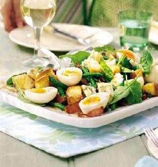 Baby spinach bistro salad    http://www.ibssanoplus.com/low_fodmap_recipe_spinach_bistro_salad.html