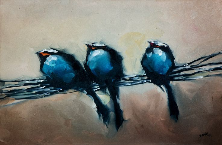 Braul, Harold - Birds Somehow these simple paintings really captivate me, maybe because they remind me of home in some way.