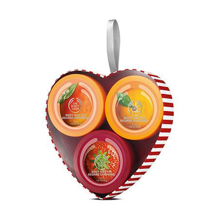 Treat your sweetheart to a trio of gorgeous mini Body Butters in some of our favorite fruity flavors. The cute box makes it a great stocking filler.