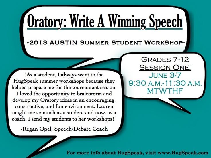 How to write an oratory speech