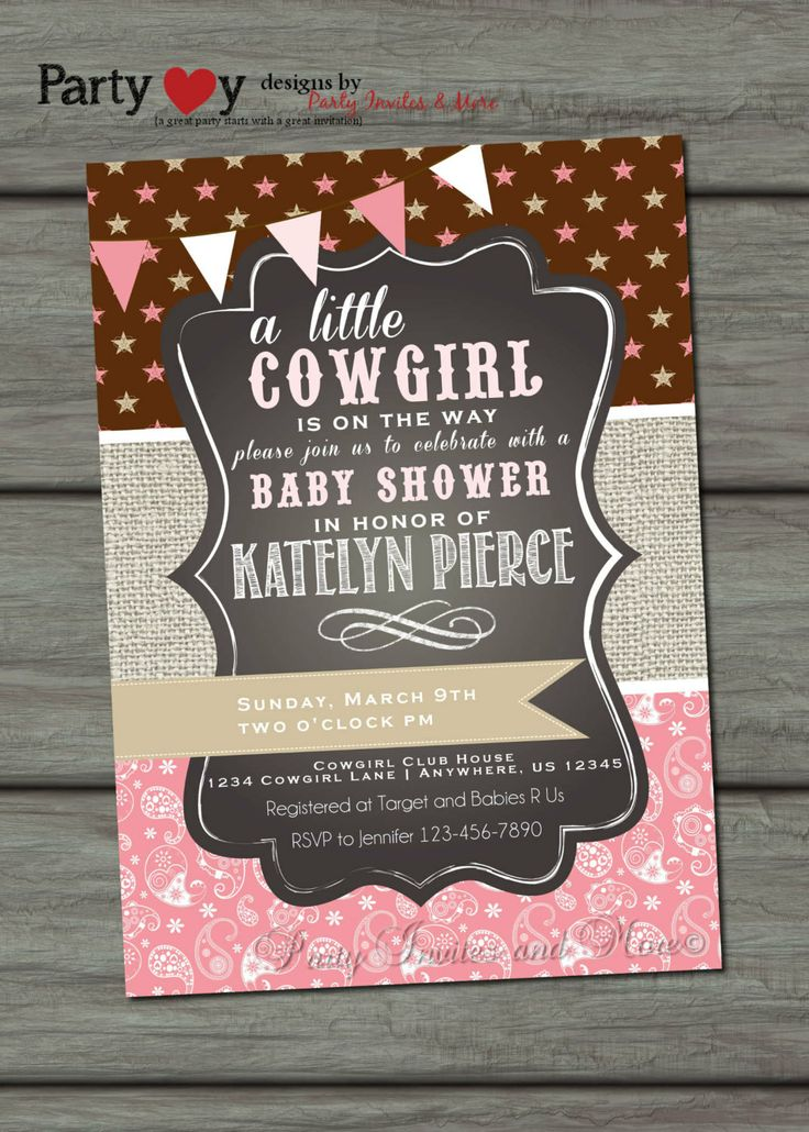 Cowgirl Baby Shower Invitation Paisley Baby by PartyInvitesAndMore, $10.00