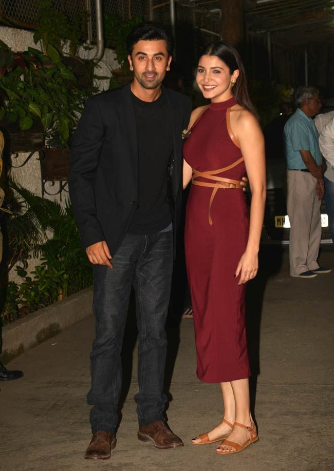 Ranbir Kapoor and Anushka Sharma at a screening of Bombay Velvet.