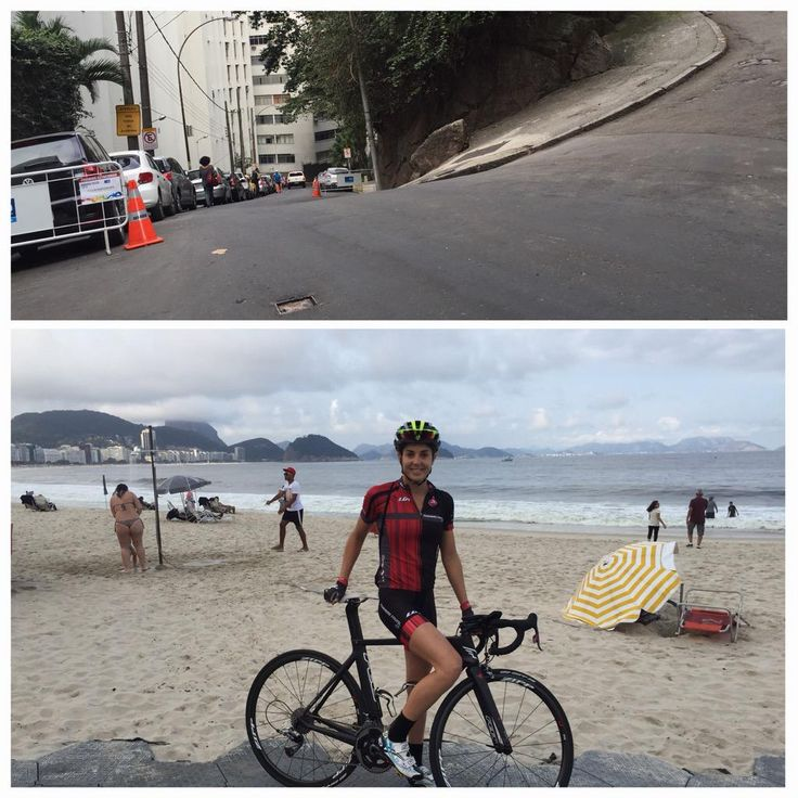 Rio de Janeiro. Part of the bike course hill and a #photobomb