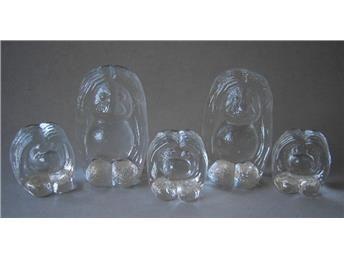 5 glastroll - troll familj - Bergdala på Tradera.com - Glasdjur   Glas  