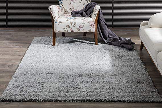 Perla Furniture Shaggy Area Rug 5x7 Perla 5 X 7 Grey