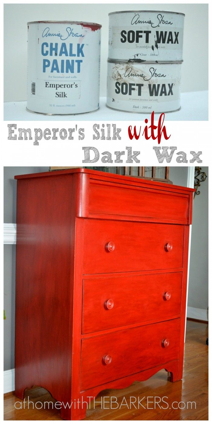Furniture makeover with Annie Sloan Chalk Paint-Emperors Silk