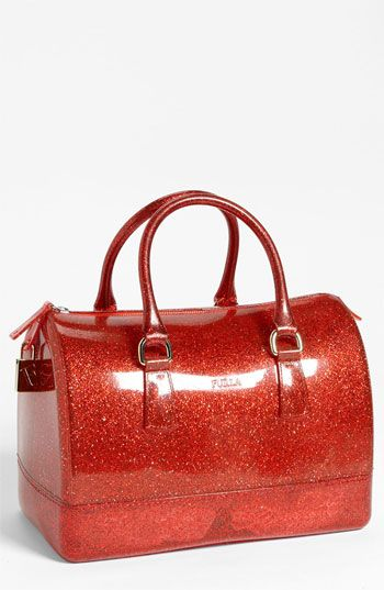 Now this is what I call a Christmas ornament!!  Furla 'Candy Glitter' Rubber Satchel available at #Nordstrom
