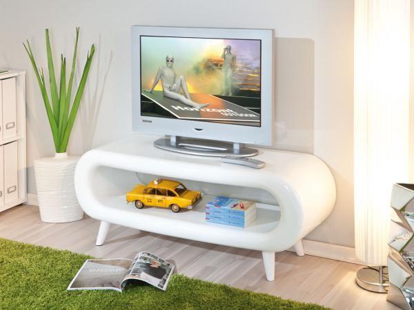 PRETTY Tv-bänk Vit - Tv-bänkar - Förvaring - Inomhus